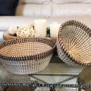 Other - Medium Natural Seagrass Hand Woven Basket